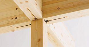柱と梁の接合部の断面欠損が少ない