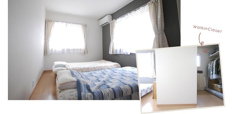 寝室、ウォークインクローゼット